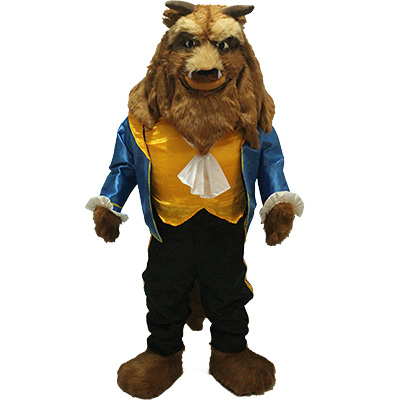 Beauty and the Beast Beast Mascot Costume Cartoon