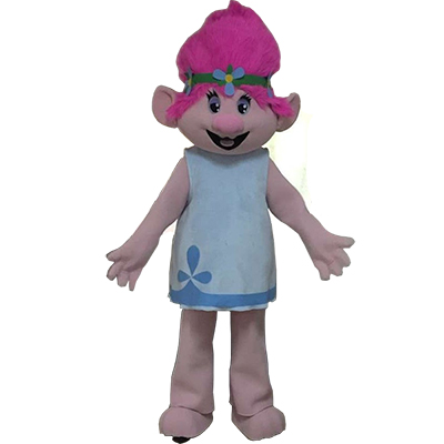 Trolls Princess Poppy Mascot Costume Cartoon