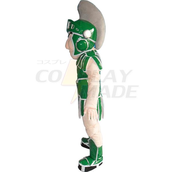 Green Knight Mascot Costume Cartoon