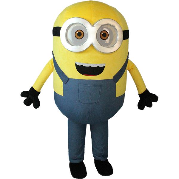Yellow Minions Mascot Costume Cartoon