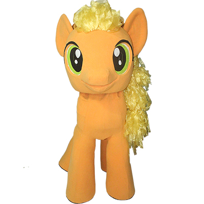 Orange My Little Pony Mascot Costume Cartoon