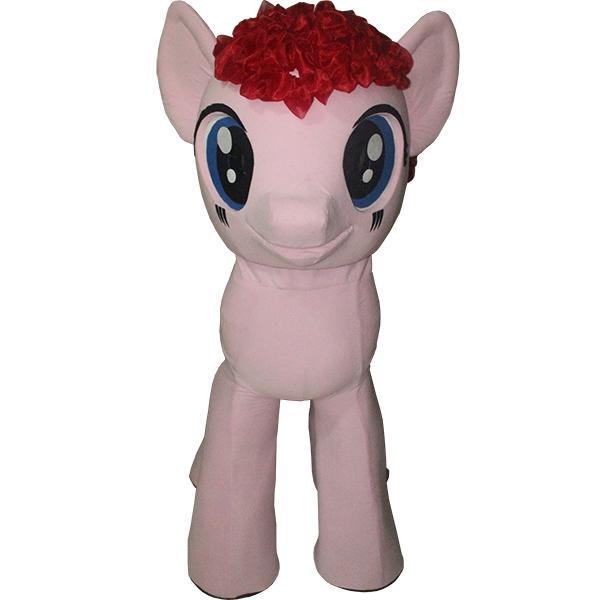 Pink My Little Pony Mascot Costume Cartoon