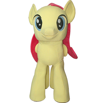 Yellow My Little Pony Mascot Costume Cartoon