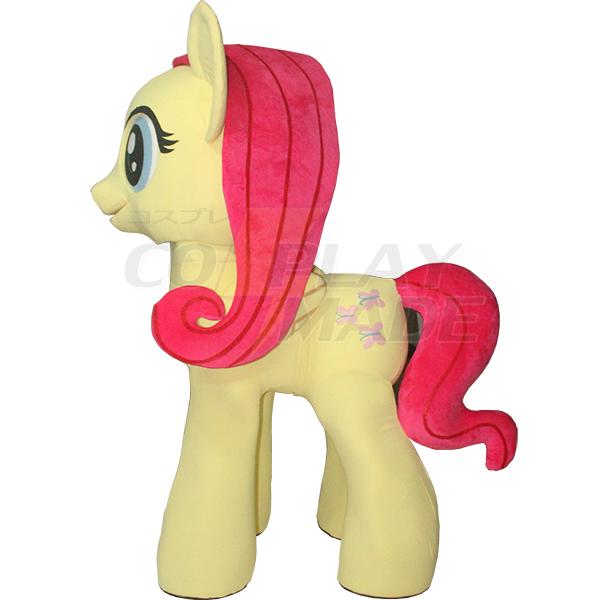 Yellow My Little Pony Mascot Costume Cartoon