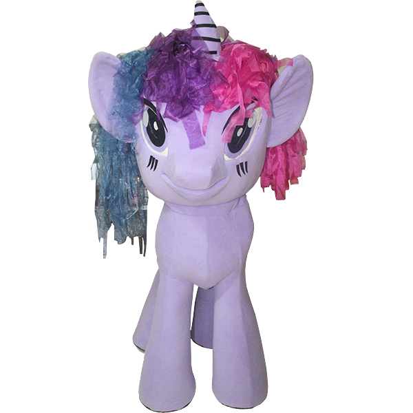 Purple My Little Pony Mascot Costume Cartoon