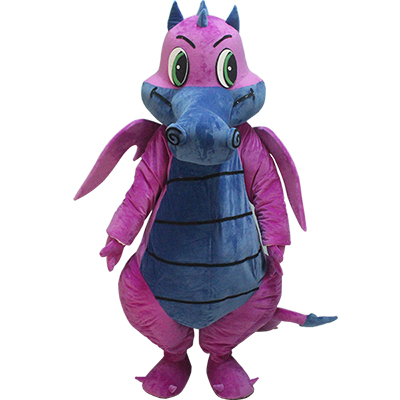 Purple Dinosaurs Mascot Costume Cartoon