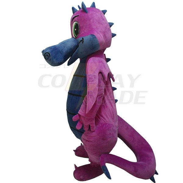 Purple Dinosaurs Mascot Costume Cartoon