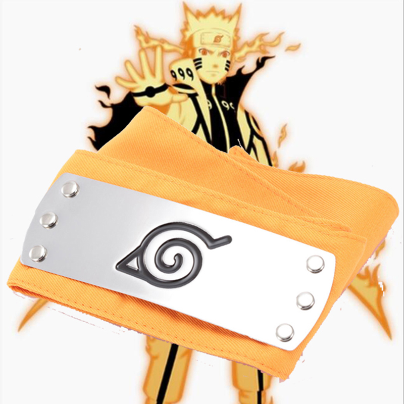 New Style Naruto Kyuubi Mode Orange Headband Cosplay Accessories