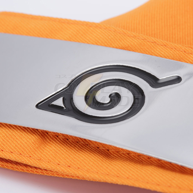 New Style Naruto Kyuubi Mode Orange Headband Cosplay Tilbehør