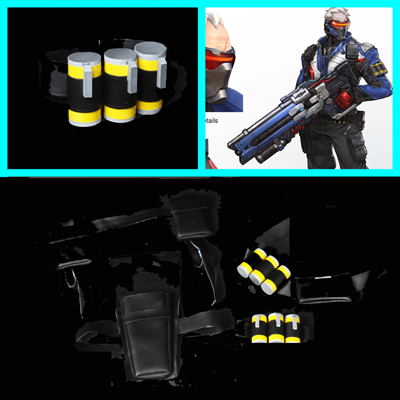 Overwatch 76 Soldier Costume Carnaval Cosplay clip Bullet Props Pocket France
