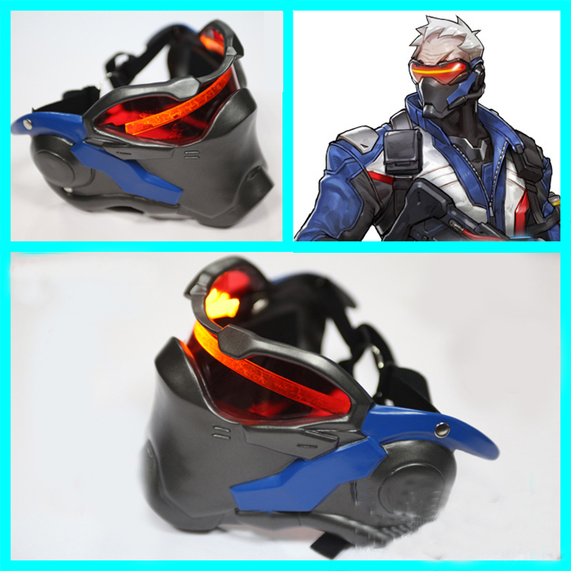 Overwatch Ow 76 Soldier Cosplay Rekvisiitta Emit Light Mask For Halloween Rekvisiitta Suomi
