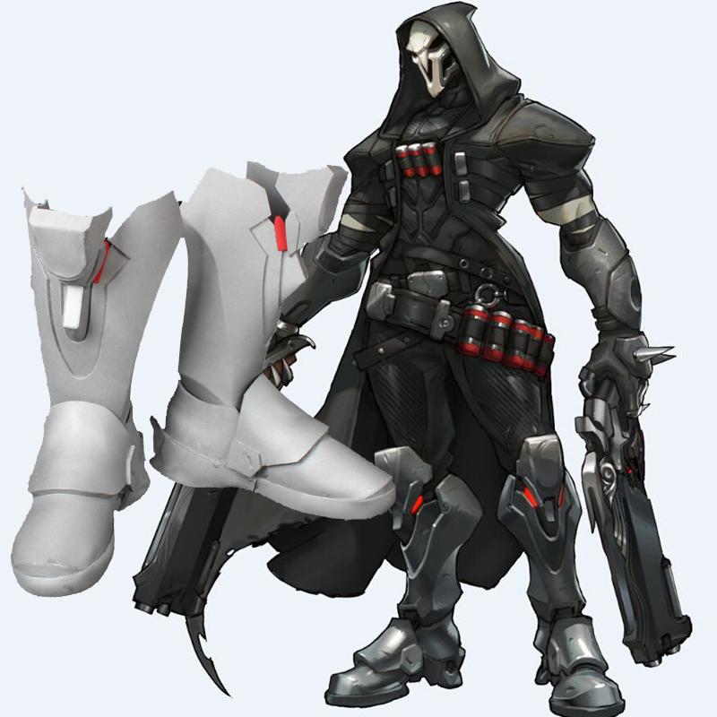 Overwatch Reaper Cosplay Kengät OW mittatilaus Kengät Suomi