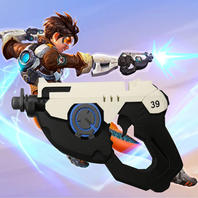 Fantasias de Game Overwatch OW Tracer Weapon Pistol Cosplay Adereços Pvc Brasil (1pcs)
