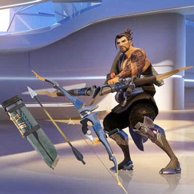 Game Overwatch Hanzo Cosplay Hyller Halloween Tilbehør