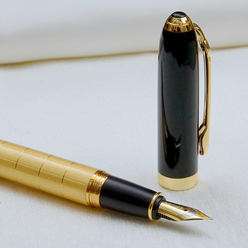 Luxury Gift Business Pen Ballpoint Pen Fountain Pens Rollerball Pen with 22KT Gold Plated