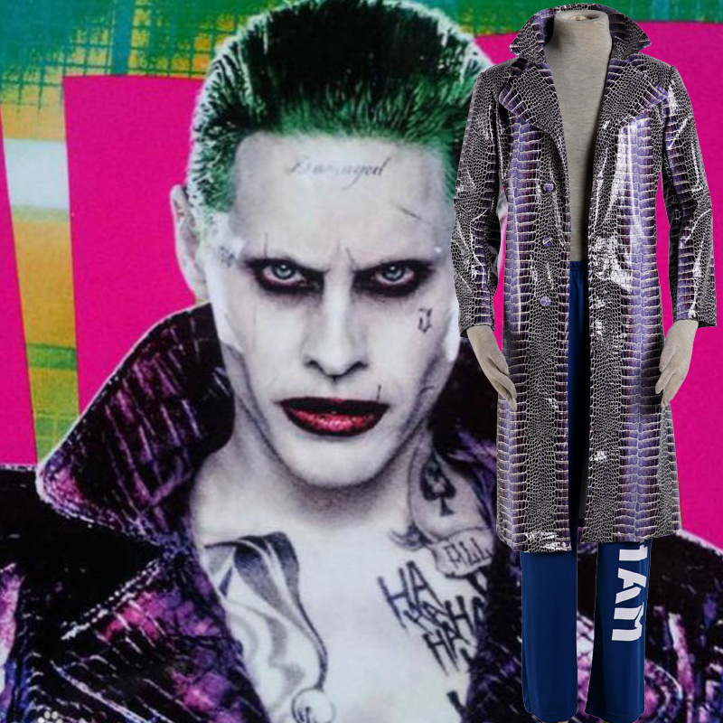 Suicide Squad Joker Cosplay Halloween Fantasias Portugal