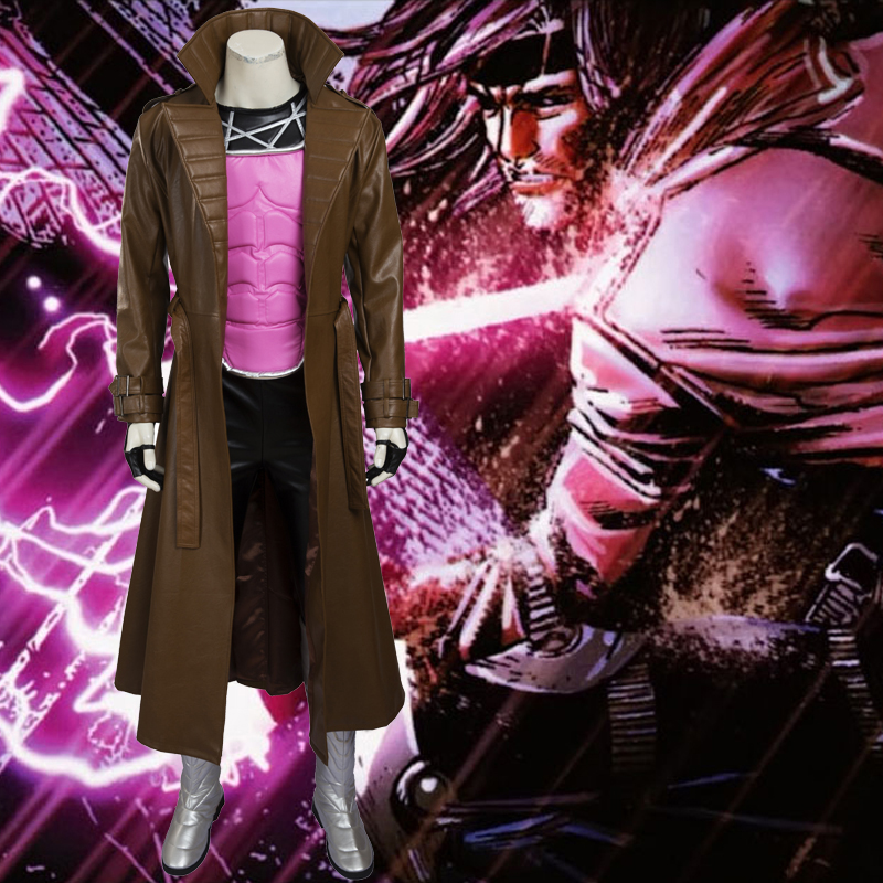 X Men Gambit Cosplay Halloween Costume Outfit