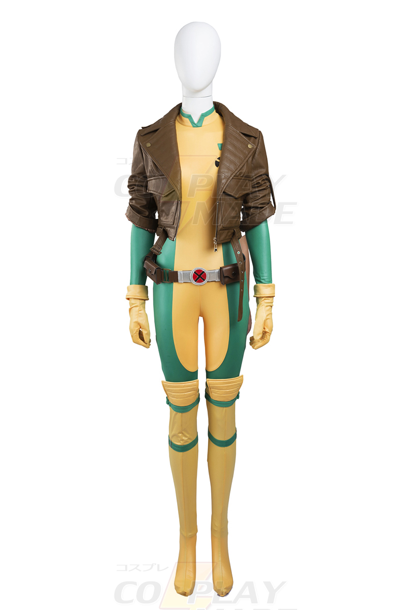 New Style X Men Anna Marie Rogue Cosplay Halloween Karneval Kläder Zentai Suits Sverige