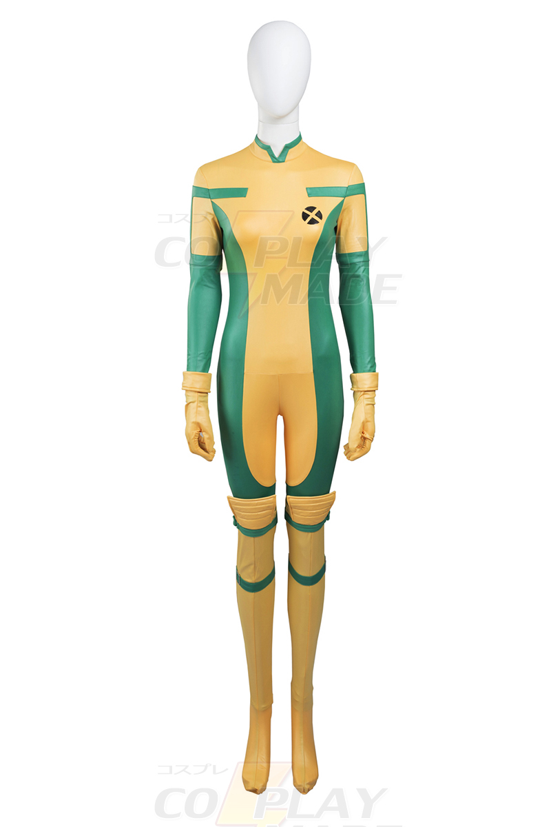 New Style X Men Anna Marie Rogue Cosplay Halloween Puvut Zentai Suits Suomi