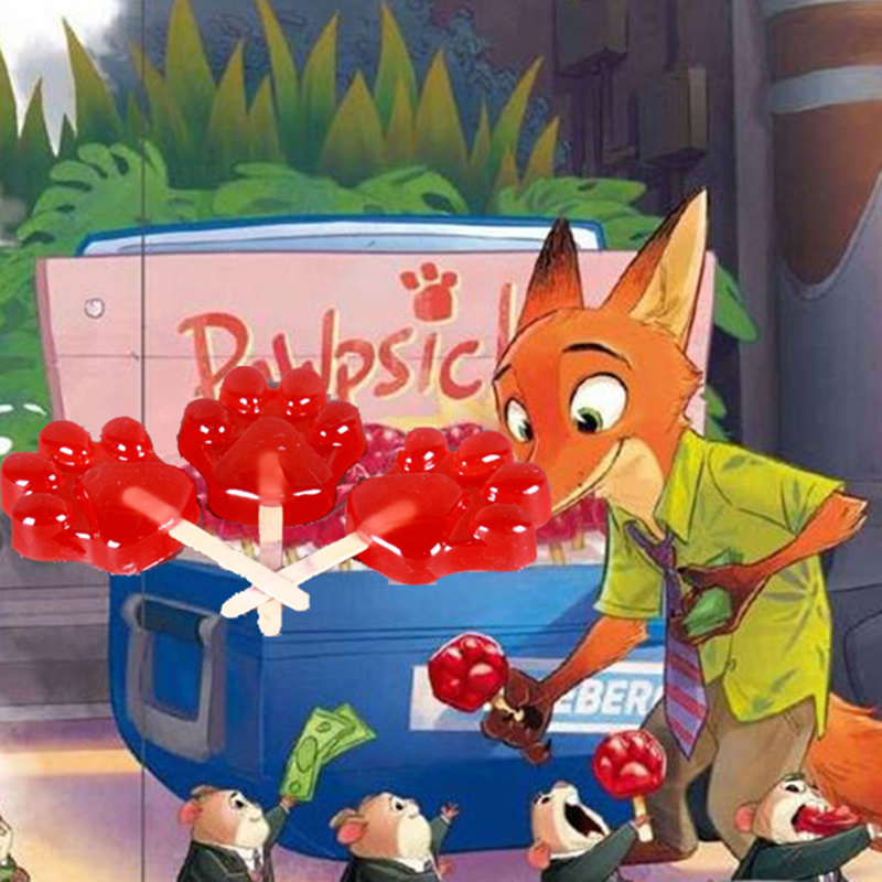 Zootopia Nick Wilde Fox Paw Popsicle Cosplay Tillbehör Resin Sverige