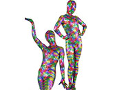 Multi-color Trajes Zentai