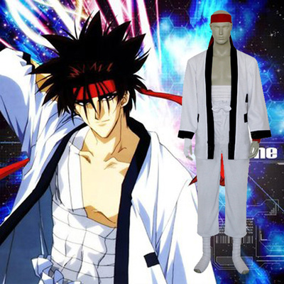 Luxury Rurouni Kenshin Sanosuke Sagara Cosplay Costumes Wellington