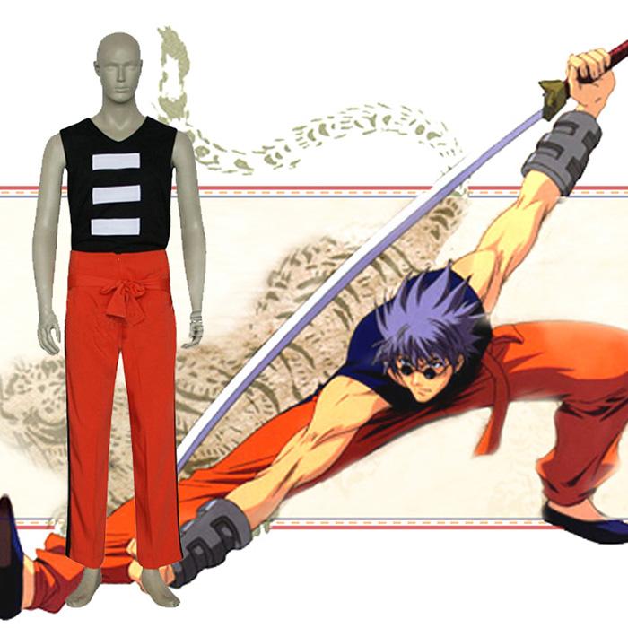 Rurouni Kenshin Enishi Yukishiro Cosplay Karnevál