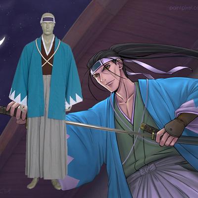 Rurouni Kenshin Saito Hajime Shinsengumi Cosplay asut Naamiaisasut
