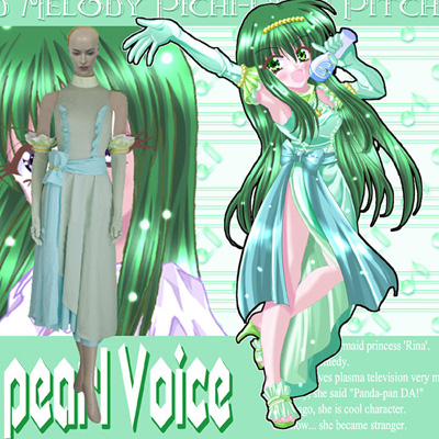 Mermaid Melody Pichi Pichi Pitch Rina Cosplay asut Naamiaisasut