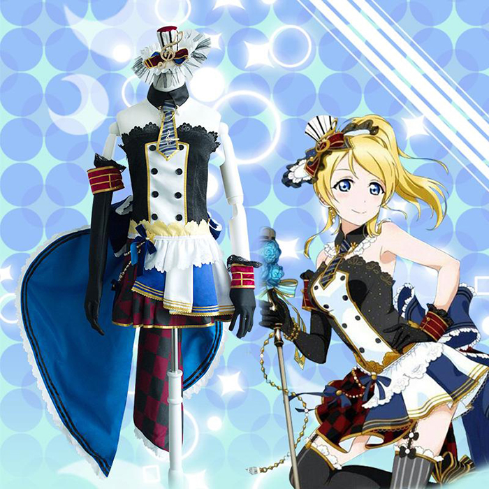 Déguisements LoveLive! Ellie Maid Costume Carnaval Cosplay