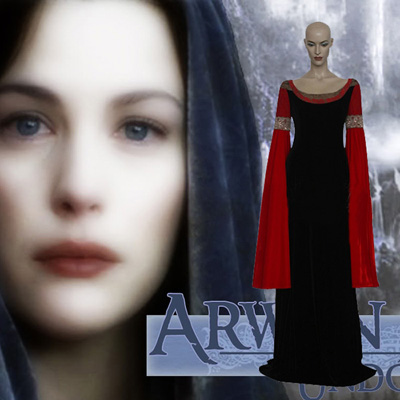 The Lord of the Rings Arwen Cosplay Traje Carnaval