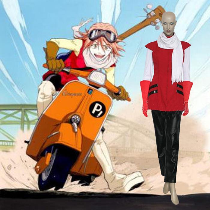 FLCL Haruhara Haruko Cosplay Kostume Fastelavn
