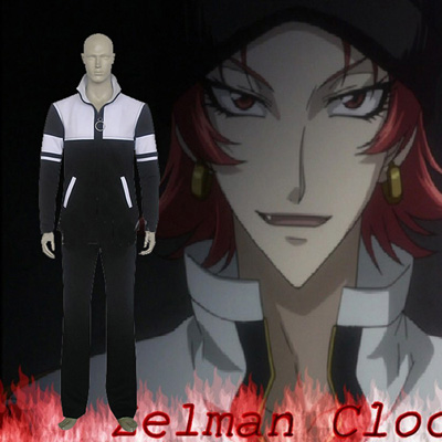 Black Blood Brothers Zelman Clock Cosplay Kostume Fastelavn