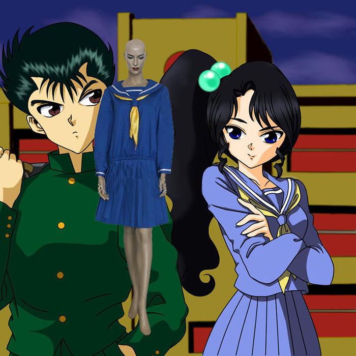 Yu Yu Hakusho Keiko Yukimura Cosplay asut Naamiaisasut