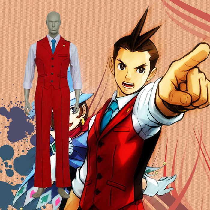 Déguisements Ace Attorney Apollo Justice Costume Carnaval Cosplay