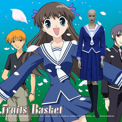 Fruits Basket Hanajima Saki Cosplay Traje Carnaval