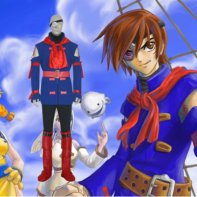 Skies of Arcadia Vyse Cosplay Kostym Karneval
