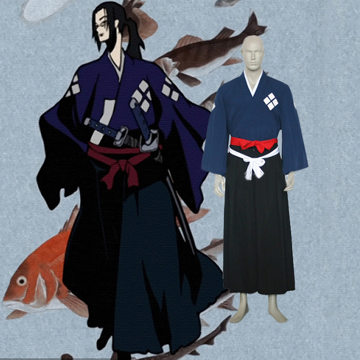 Samurai Champloo Jin Cosplay asut Naamiaisasut