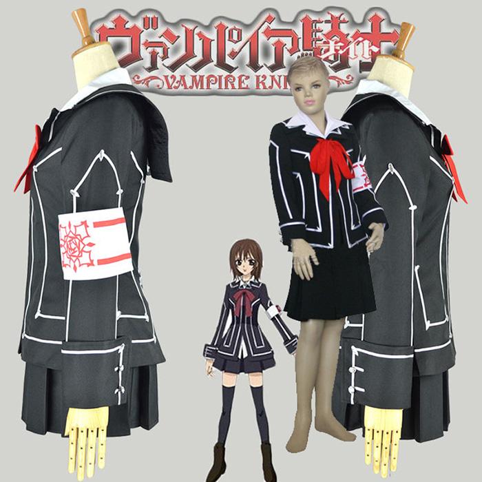 Vampire Knight Day Class Girl Kurosu Yuuki Kids Cosplay Jelmez Karnevál