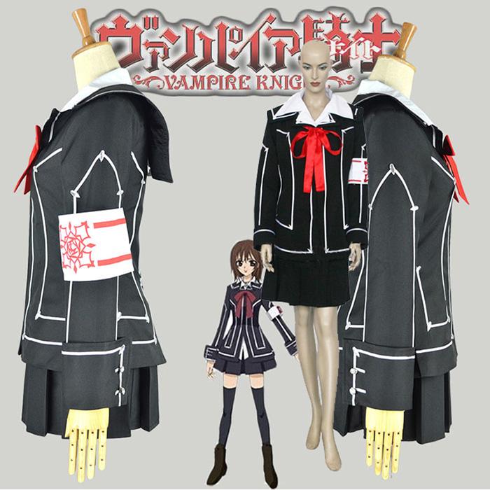 Vampire Knight Day Class Tytöt Kurosu Yuuki Cosplay asut Naamiaisasut
