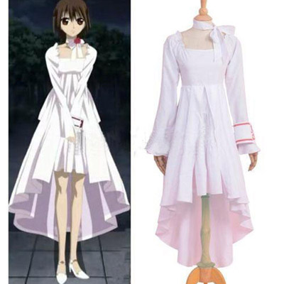 Vampire Knight Yuuki Cross White Gown Cosplay Traje Carnaval