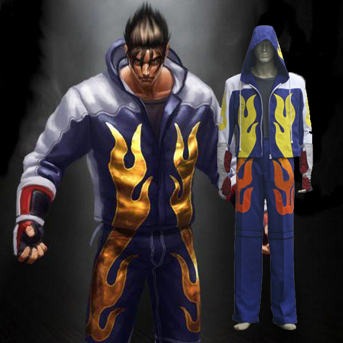 Tekken Jin Kazama Cosplay Jelmez Karnevál