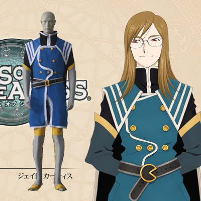 Tales of the Abyss Jade Curtiss Cosplay Kostym Karneval