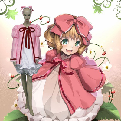Rozen Maiden Hinaichigo Strawberry Doll Cosplay Kostume Fastelavn