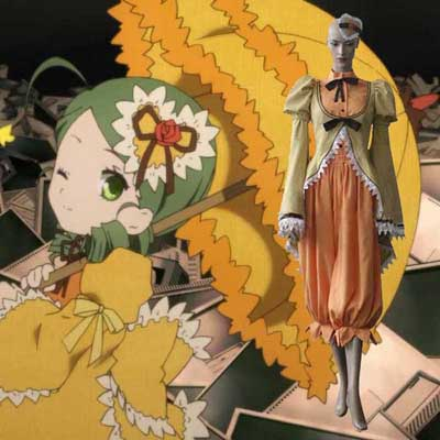 Luxury Rozen Maiden Kanaria Canary Bird Cosplay Costumes Wellington