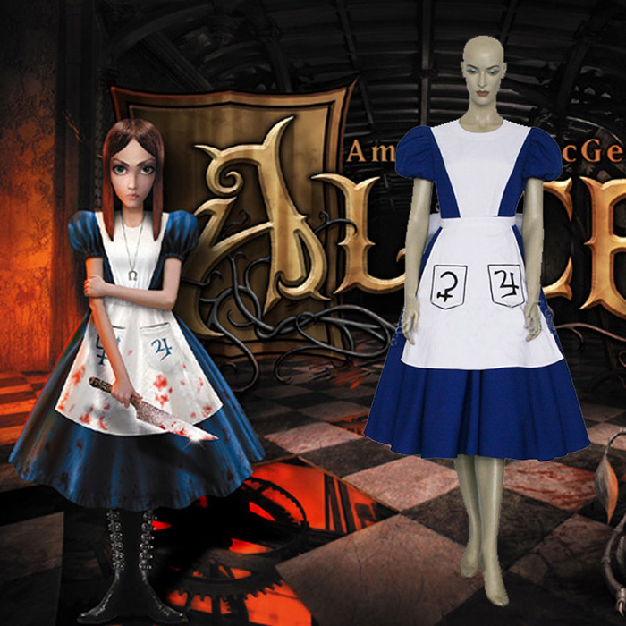 Déguisements American Mcgee Alice Costume Carnaval Cosplay