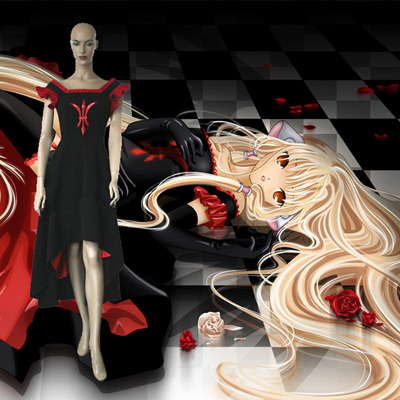 Chobits Freya Cosplay Costume Vêtements Carnaval