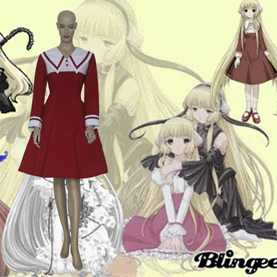 Chobits Chi Brown Cosplay Kostuum Kleding Carnaval Halloween