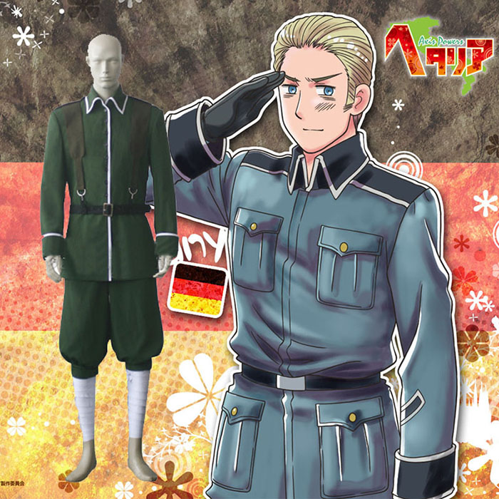 Hetalia Axis Powers Germany Cosplay Kostume Fastelavn
