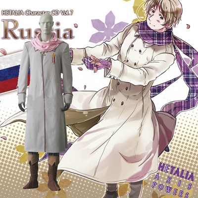 Hetalia Axis Powers Russian Allies Cosplay Kostym Karneval